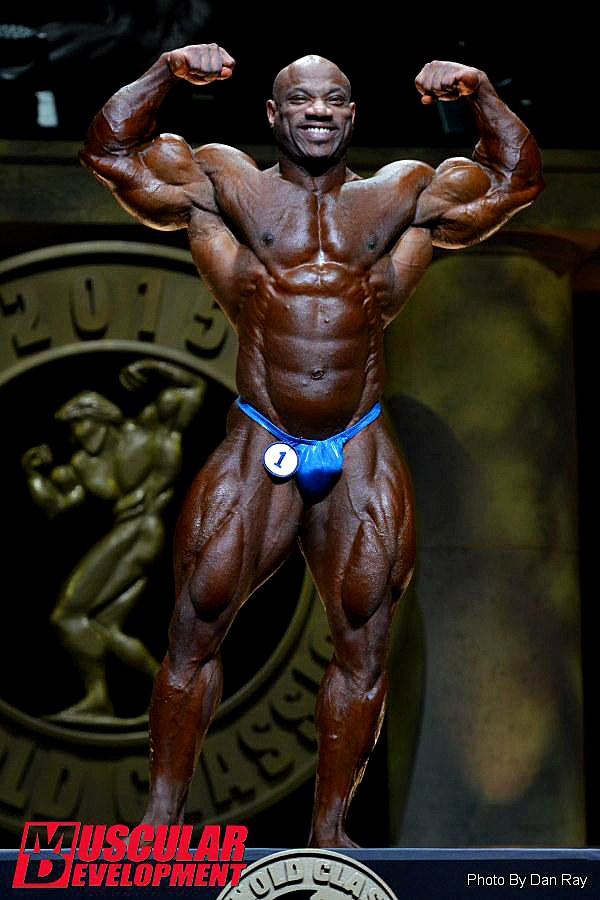 Arnold Classic 2015 - Dexter Jackson - front double biceps