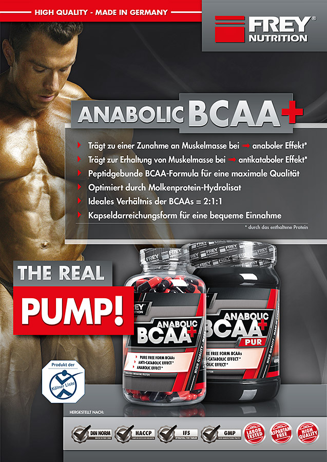 ANABOLIC BCAA + Flyer front