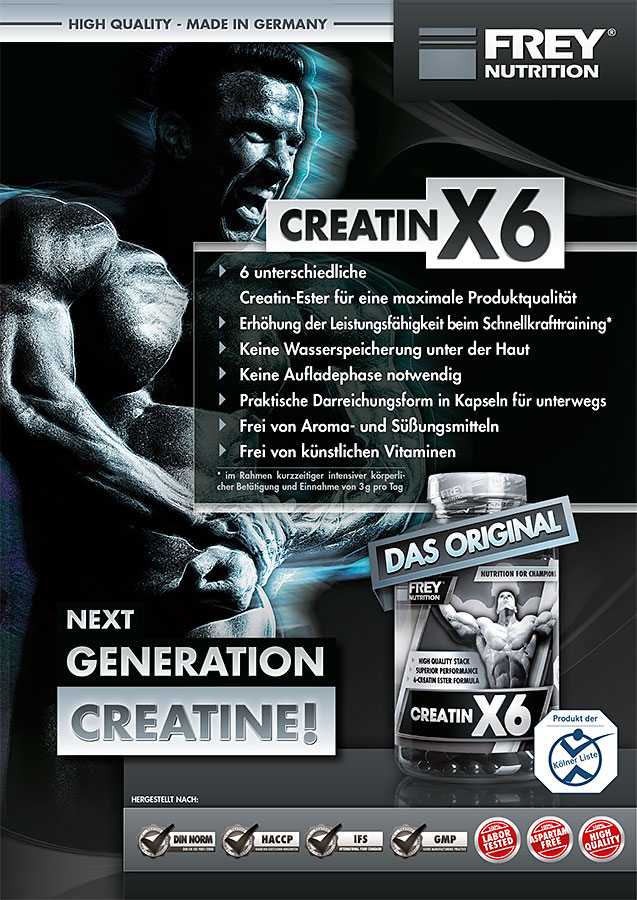 CREATIN X6 Flyer front