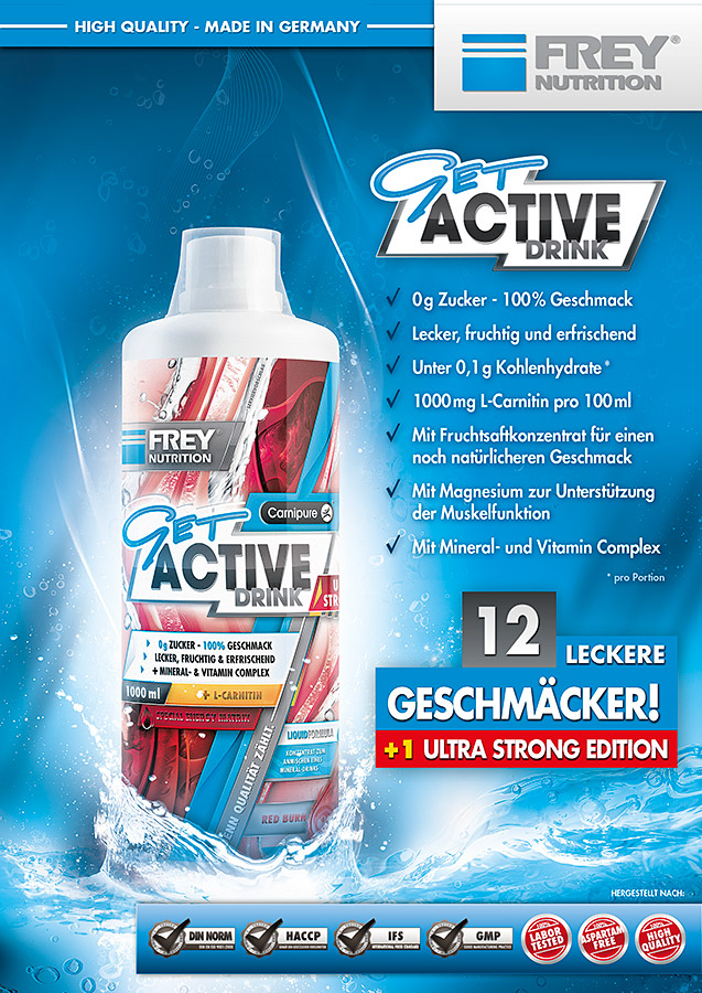 GET ACTIVE DRINK Flyer front