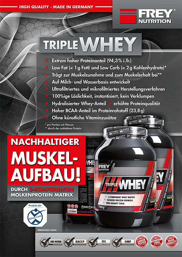 TRIPLE WHEY Infoflyer