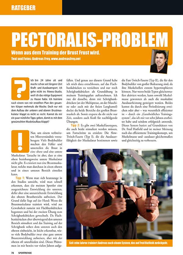 Kolumne 03 - Pectoralis-Problem