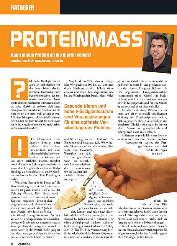 Kolumne 7 - Proteinmass