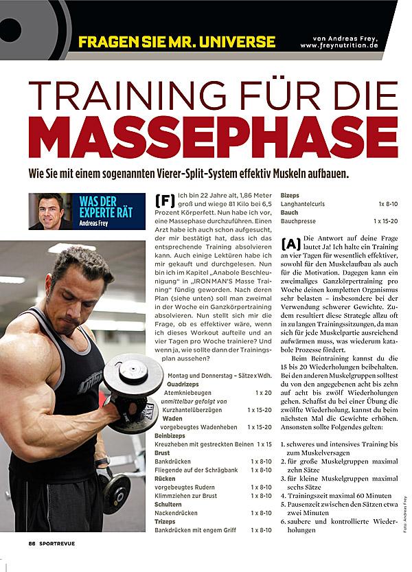 Kolumne 37 - Training für die Massephase