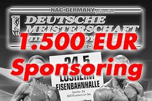 1.500 Euro Sponsoring von FREY