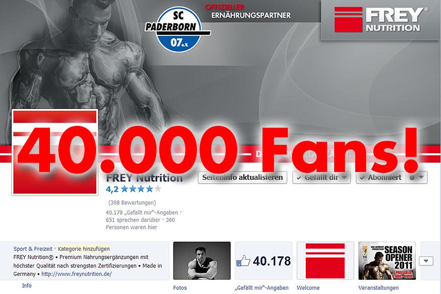Vielen Dank an 40.000 Facebook Fans!