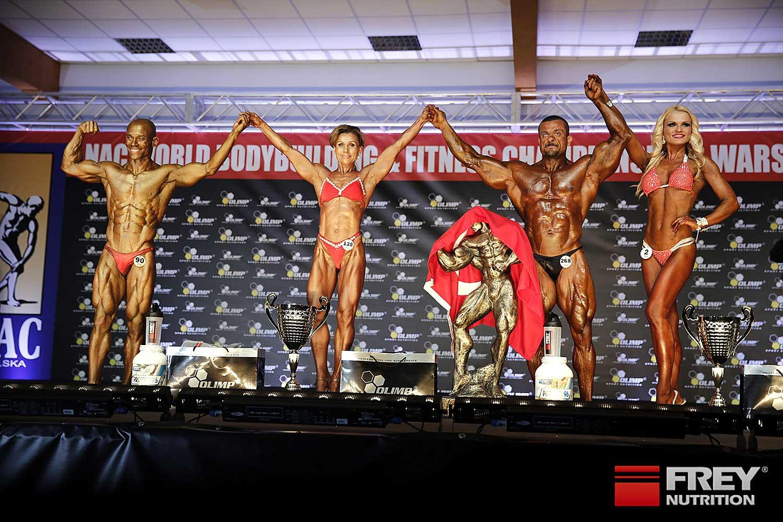Overall Winners: Emmanuel Mamadou (Athletic/ESP)   Natalia Bystrova (Figure/RUS)   Erkal Ozagi (Body/TUR)   Anita Puzule (Shape/LAT)