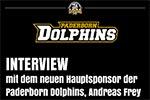 Interview der Dolphins mit Hauptsponsor Andreas Frey