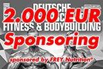 2.000 Euro Sponsoring von FREY Nutrition®
