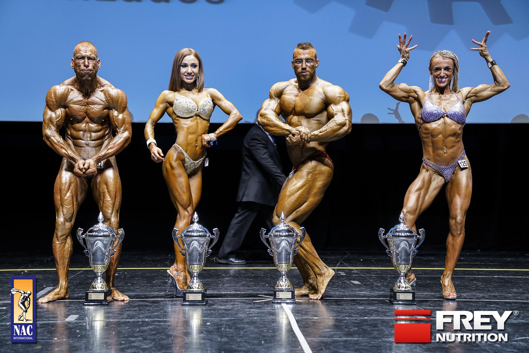 Overall Winners: Franciscus Brouwer (Athletic/NED) | Feryuza Urazova (Bikini Shape/LVA) | Dani Kaganovich (Body/ISR) | Ilona Swierk (Figure/POL) width=