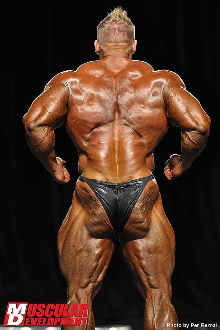 Mr. Olympia 2011 - Jay Cutler - Rückenpose