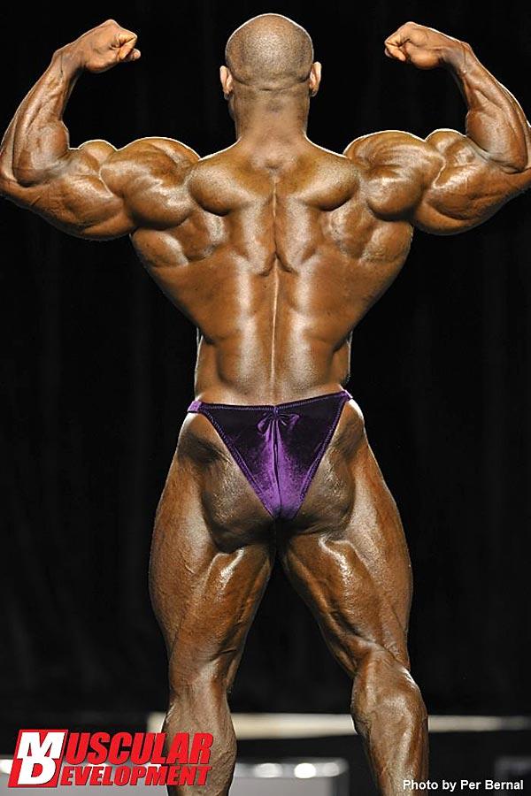 Mr. Olympia 2011 - Dexter Jackson - Doppelbiceps von hinten