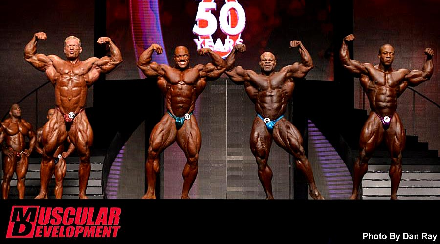Mr. Olympia 2014 - comparison - front double biceps