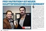 FREY Nutrition wird Hauptsponsor des NAC Germany