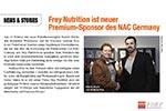 Pressebericht: FREY Nutrition® wird NAC Hauptsponsor