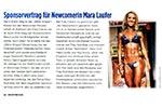 Sportrevue Presseartikel: Sponsorvertrag für Mara Laufer
