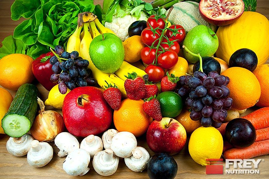 Obst und Gemüse sind gute Vitaminlieferanten
