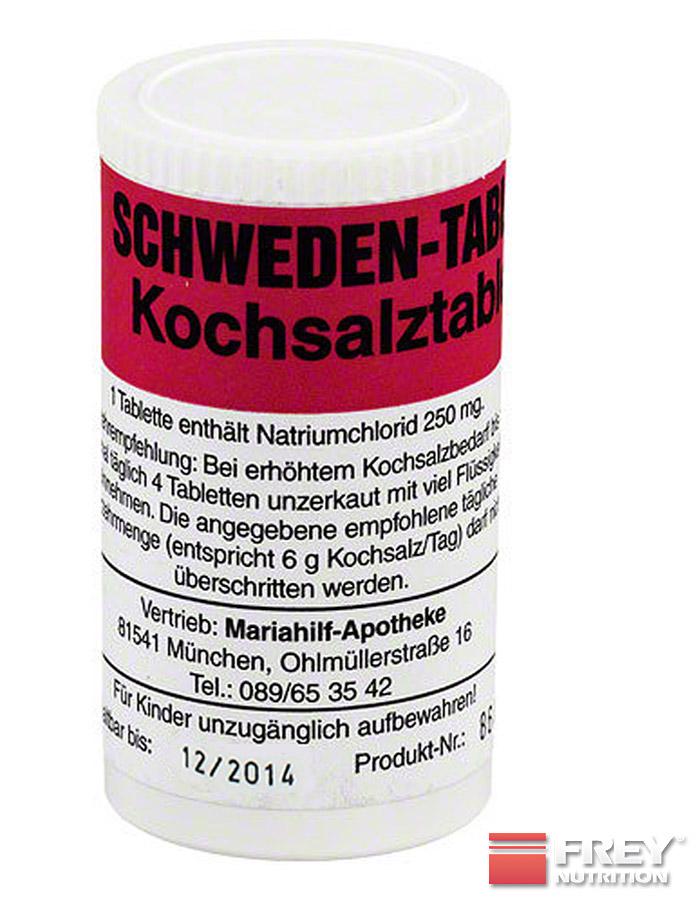 Schweden-Tabletten enthalten 250mg Natrium pro Tablette