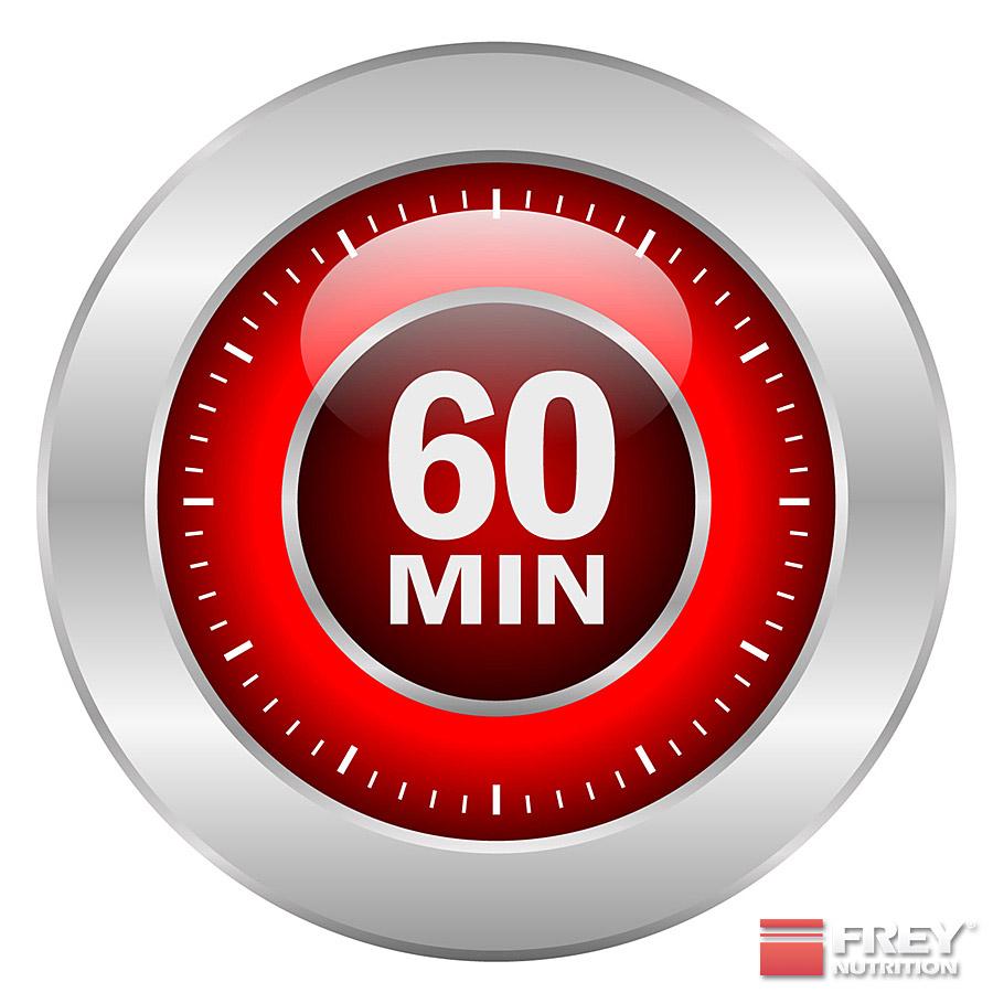 Maximal 60 Minuten Training