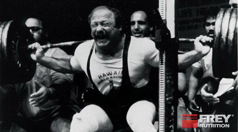Fred Hatfield bei einem seiner Weltrekorde