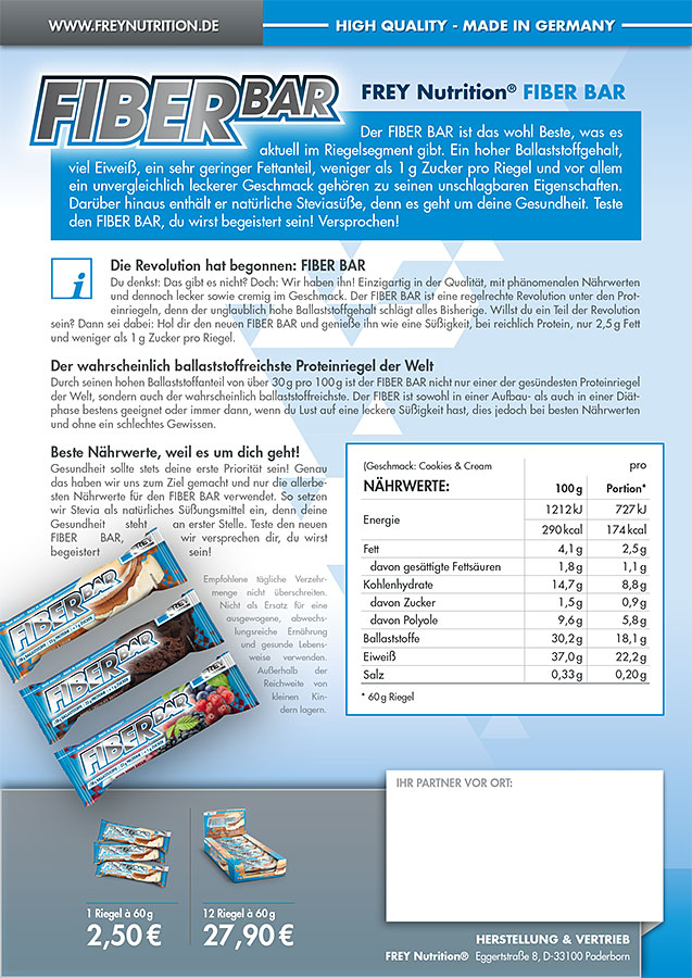 FIBER BAR Flyer Back
