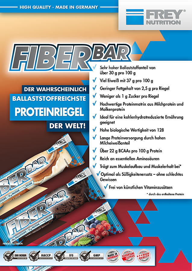 FIBER BAR Flyer front